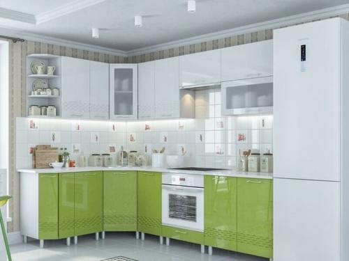 Кухня Волна Олива