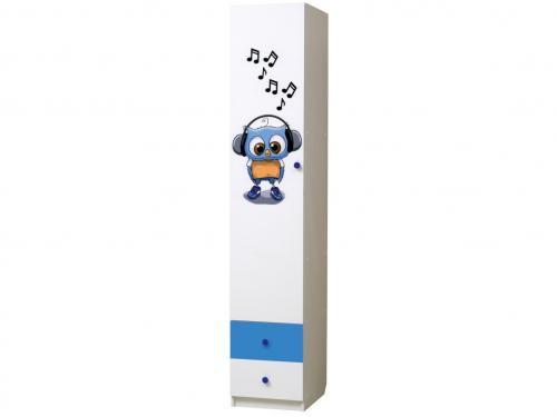 Шкаф 1-но дверный с ящиками Совята 1-3