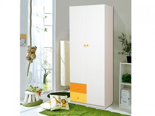 Шкаф 2-х дверный с ящиками Радуга